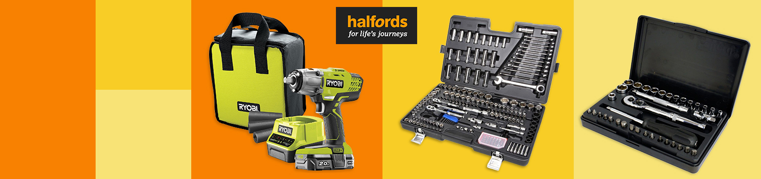 Up to 50% off Garage Tools from Halfords