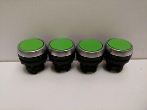6 x 22mm Khaki Green Round Plastic Buttons E1054