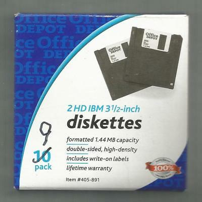 "Box Of 9 Ibm 2hd, Double-sided, High Density 3.5"" Diskettes"