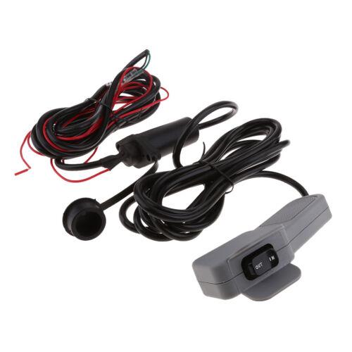Winch Rocker Switch Handlebar Control Line  Accessories for ATV//UTV Grey