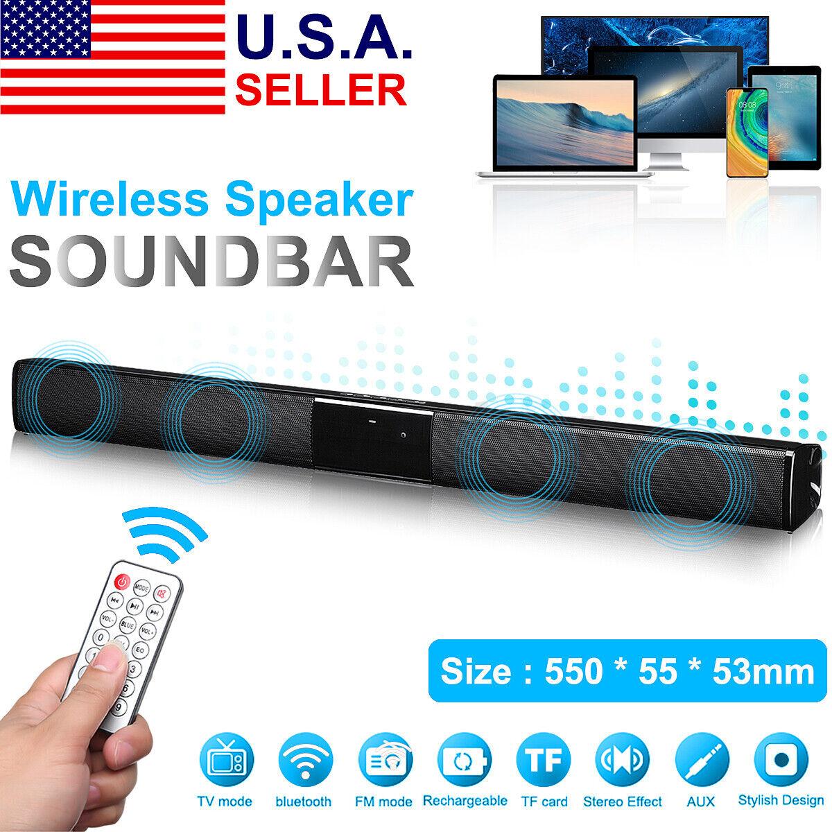 "21"" Wireless bluetooth Sound Bar Speaker TV Home Theater Sou"