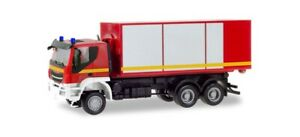 Herpa-094610-Iveco-Trakker-Removable-Loaders-Truck-034-Fire-Brigade-034-1-87-H0