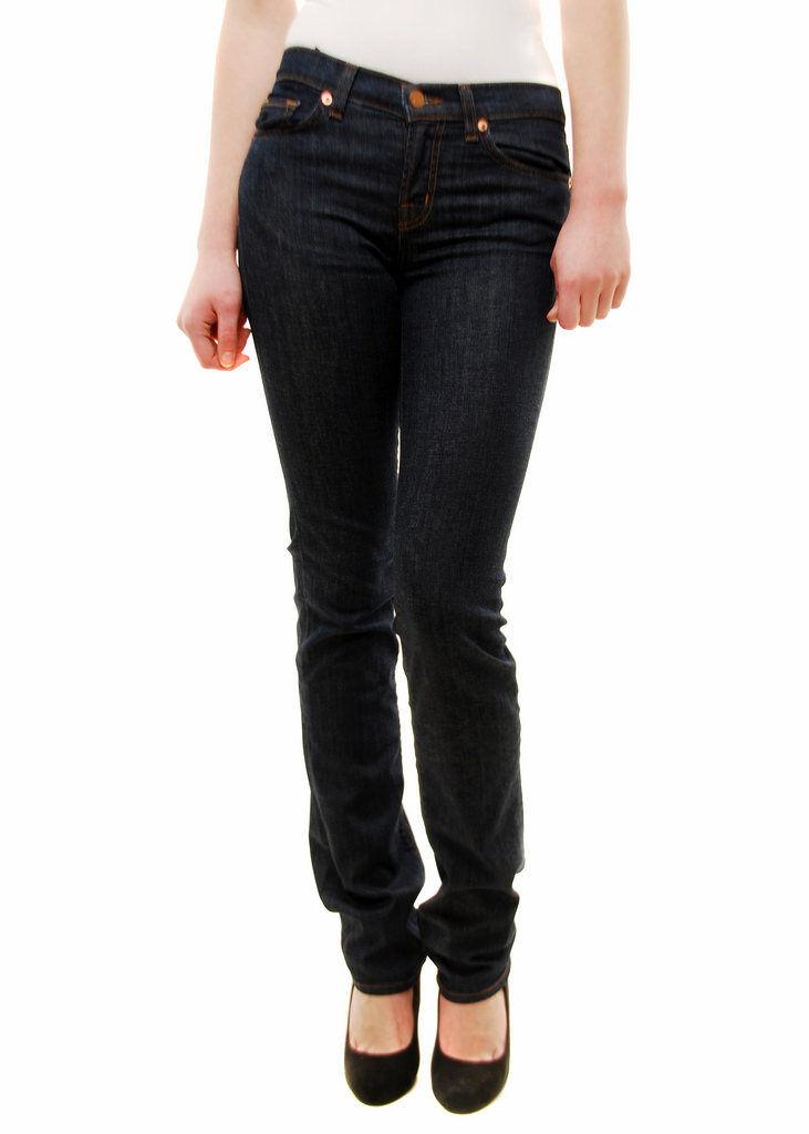 Brand Donna J MAI USATO UNICO GAMBA SIGARETTA PURO Jeans Blu taglia 25 RRP  BCF78