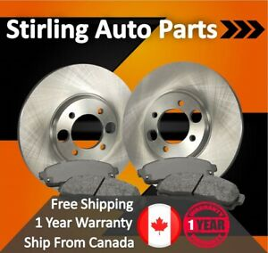 A1068 FIT 2003 2004 2005 2006 2007 Ford Crown Victoria Drilled Rotors Pads Front