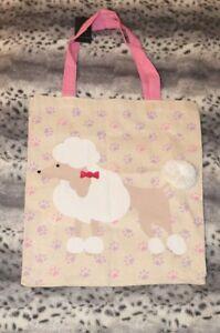 NEU Atmosphere Primark Tasche Beutel Pudel Poodle kultig rosa lila weiß Schleife