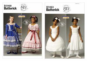 Butterick Sewing Pattern Girls Civil War Costume Dress Drawers