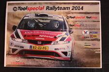 Card Tool Special Rallyteam 2014 Honda Civic #4 Ochse (NED) / Bossche (NED) (HW)