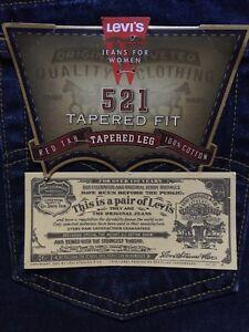 taille coupe droite jambe femmes 521 pour fuselée haute Levis taille 14 Jeans f4PExqnO8w