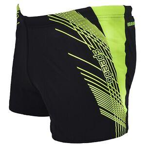 Speedo-Mens-Splash-Swimwear-Fitness-Training-Swimming-Shorts-Trunks-Black