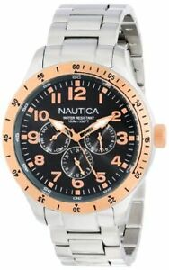 $160 BRAND NEW NAUTICA N16100G MENS BFD 101 MULTI CASUAL CLASSIC GREY DIAL WATCH