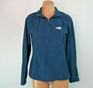The-North-Face-Blue-Classic-Fleece-1-4-Zip-Pullover-Sweater-Sweatshirt-Medium
