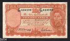 Australia R-13. (1942) Ten Shillings..  Armitage/McFarlane..  aVF