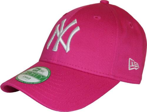 Ny Yankees Mädchen New Era 940 Pink Baseball Kappe Einstellbar Age 4-10