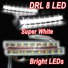 *8 LED Daytime Running Light AUDI VW BMW VAUXHALL FRONT BUMPER GRILL DRL REAR