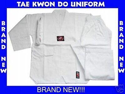 WHITE TAE KWON DO TAEKWONDO UNIFORM SIZE 7 BRAND NEW!