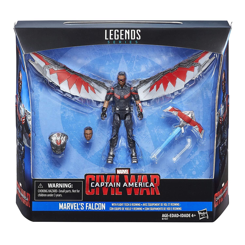 CAPITAN AMERICA GUERRA CIVILE Marvel Legends Action Figure Falcon 10 cm