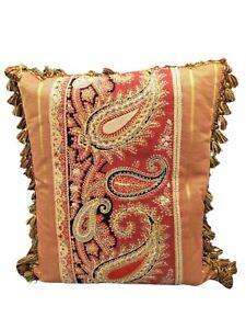"""Antique Paisley Pillow 18""""x16"""""""