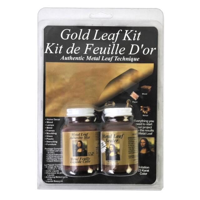Mona Lisa Metal Leaf Kit Gold Leaf Kit 25 sheets Gilding SPE 0010201