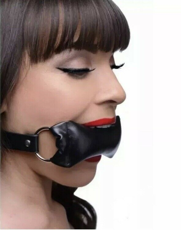 Pure Leather bondage Padded Pillow Mouth Gag