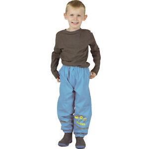 Kinder-Jungen-Regenhose-Buddelhose-Matschhose-Disney-Minions-blau-gefuettert