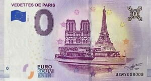 BILLET-0-EURO-VEDETTES-DE-PARIS-FRANCE-2019-NUMERO-8008