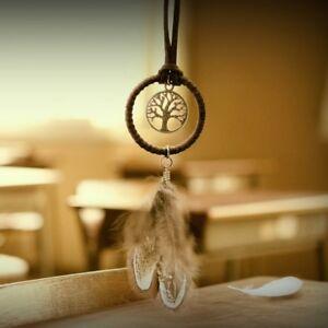 Feather-Tassels-Dreamcatcher-Dream-Catcher-Pendant-Keyring-Key-Chain-Keychain