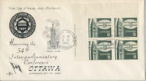 CANADA-1965-Inter-Parliamentary-Union-FDC-JD2229