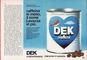 Pubblicita-Advertising-Werbung-1977-caffe-DEK-LAVAZZA