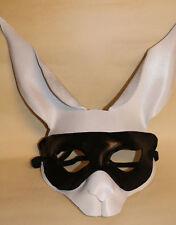 Bunny bandit !!! Rabbit Bunny Mask Handmade Leather Venetian Masquerade