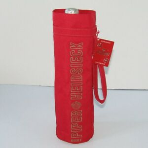 Rare Piper-Heidsieck Brut Champagne     Deluxe Red Travel Bottle Carry Case