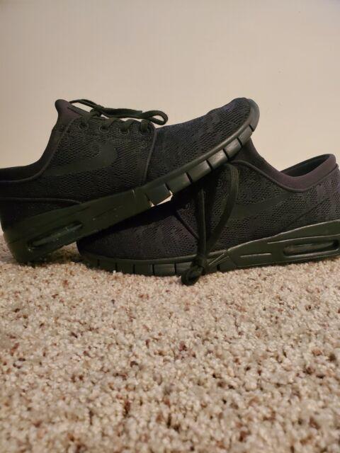 Nike Stefan Janoski Max 631303-099 Black Anthracite Men's Skateboarding  Shoes