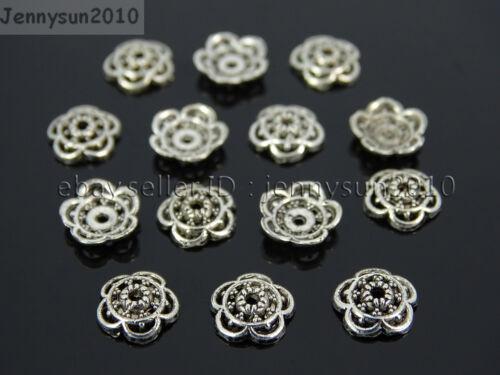 10mm Tibetan Silver Carved Flower Bead Caps Metal Findings Jewelry Design 6mm