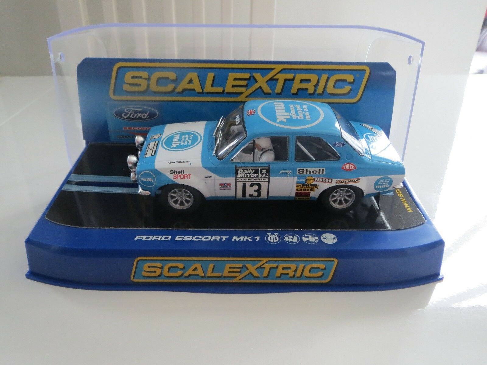 Scalextric Mk1 Ford Escort RS 1600 No13 1973 RAC Rally (C3029)  All Mint Boxed
