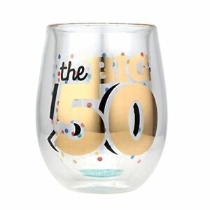 Top Shelf 50th Birthday Wine Glass Unique Thoughtful Gift Ideas For Friends And