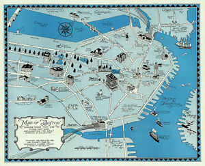 1922-Decorative-Map-of-Boston-Massachusetts-Pictorial-Historic-Wall-Art-Poster