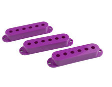 3 Plum Crazy Purple single coil pickup covers fits Fender Strat & Charvel 3 pcs