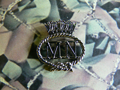Merchant Navy Enamel Lapel Badge Version 1 MN