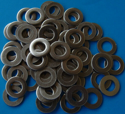 60 M10 FLAT WASHERS DIN 125 125A FORM A GRADE A2 STAINLESS STEEL SS 10mm METRIC