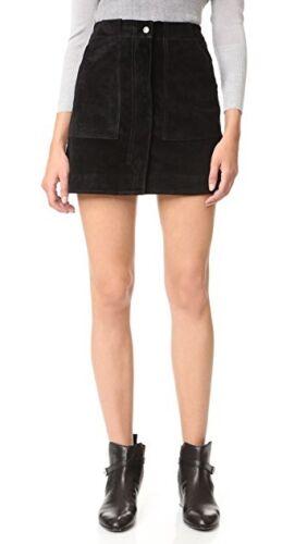 Jeans 1 Rock Knochen Size Nwt Schwarzes Veloursleder Denny amp; 4 Rag Damen q6wtYP