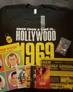 ONCE-UPON-A-TIME-IN-HOLLYWOOD-PROMO-TSHIRT-BLK-PACK-NEW-BEVERLY-CINEMA-TARANTINO