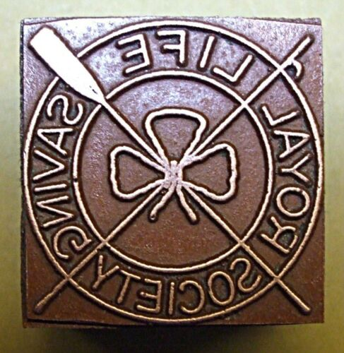 """ROYAL LIFE SAVING SOCIETY"" PRINTING BLOCK."