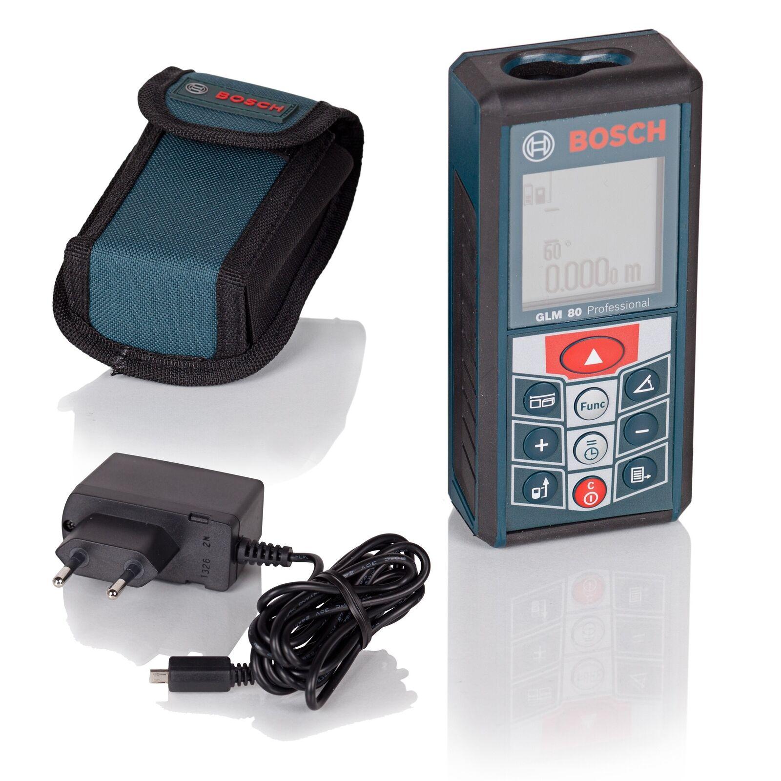 Bosch Laser Entfernungsmesser GLM80 mit Mini USB Ladebuchse