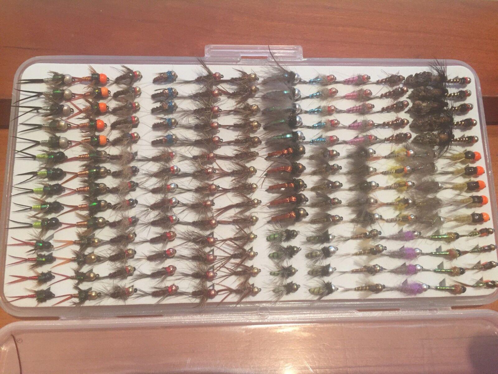 OFERTA   Colección de 168 ninfas de todo tipo. S M  FLY FISHING. 143