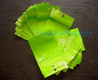 3x5 50pc Green Aluminum Foil Ziplock Mylar Bags Pouches-products Storage Food