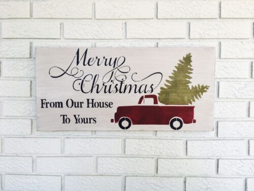 Christmas Home Decor Xmas Gift for Her Merry Christmas From Our House to Yours