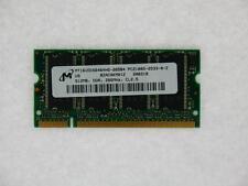 512MB Micron MT16VDDS6464HG-265B4 PC2100 333MHz 200-Pin DDR1 Laptop Memory