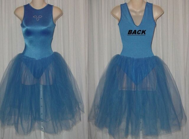 Twilight Dance Costume Blue Romantic Ballerina Cinderella Ballet Adult Small