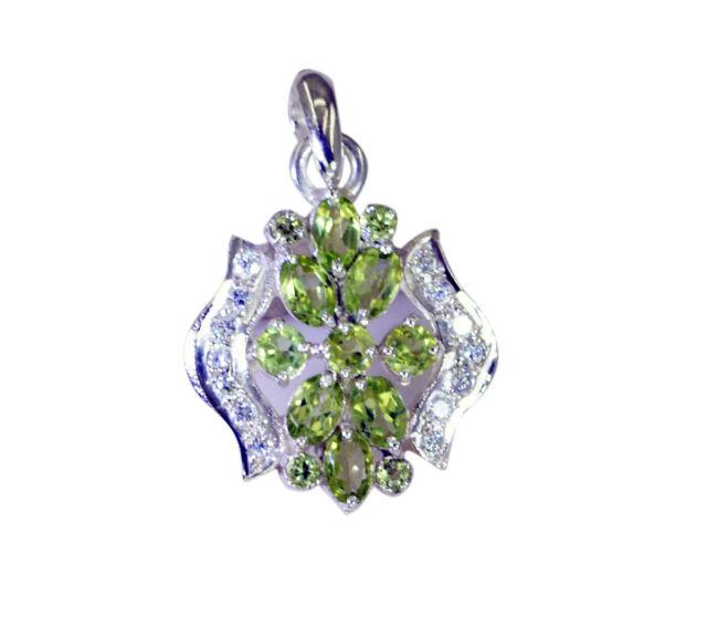 cute Peridot 925 Sterling Silver Green Pendant genuine gemstones US gift