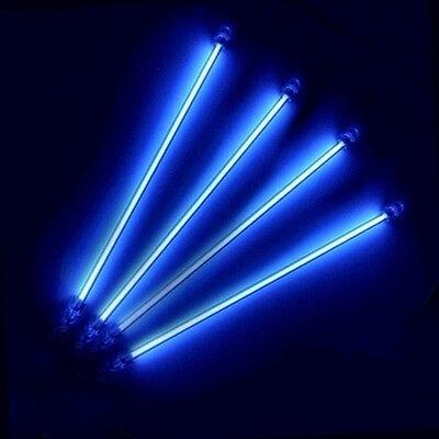 """4X 13"""" Under Car Underbody Neon CCFL Exterior Home Interior Light Blue12V"""