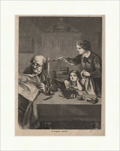 A-newspaper-reader-Wood-Engraving-W-Haase-Newspaper-Reading-Candle-Reading-Glasses-P-0280